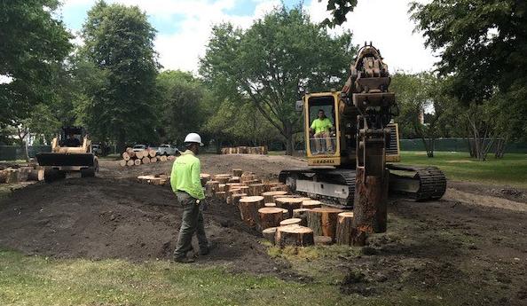 under construction log stepper